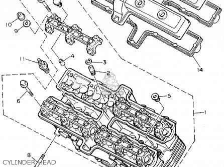 Yamaha Fzr600rfc 1994 parts list partsmanual partsfiche