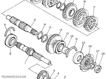 Yamaha Fzr600w 1989 parts list partsmanual partsfiche