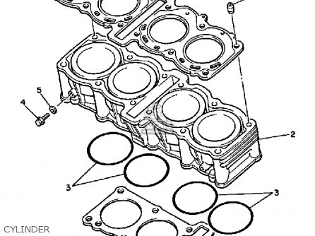 Yamaha FZR750R 1987 USA parts lists and schematics