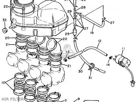 Yamaha FZR750R 1988 (J) USA parts lists and schematics