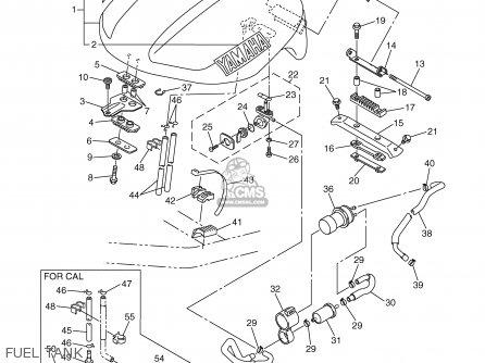 Yamaha Fzs1000p/pc 2002 parts list partsmanual partsfiche