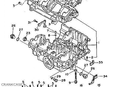 Yamaha FZX700 1986 FAZER USA parts lists and schematics