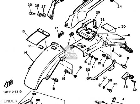 Yamaha FZX700 1986 FAZER USA parts lists and schematics