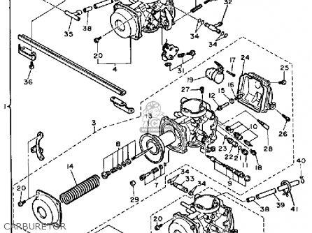 Yamaha Fzx700s 1986/1987 parts list partsmanual partsfiche