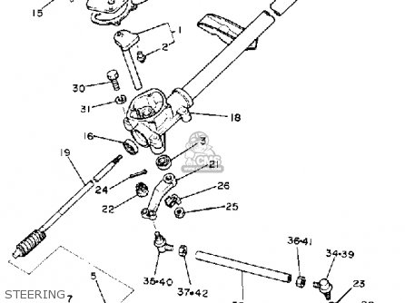 Yamaha G9ah Golf Car 1992 Body Fitting Schematic Partsfiche