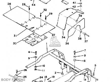 Yamaha G1-a2 Golf Car 1981 parts list partsmanual partsfiche