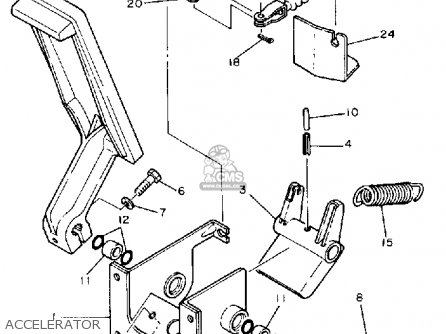 Yamaha G1-am 1985-1986 parts list partsmanual partsfiche