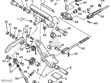Yamaha G1-am 1985-1986 parts list partsmanual partsfiche
