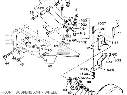 Yamaha G1-AM GOLF CAR 1985-1986 parts lists and schematics