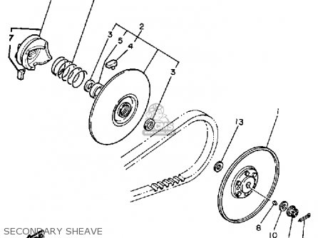 Yamaha G1-AM GOLF CAR 1985-1986 parts lists and schematics