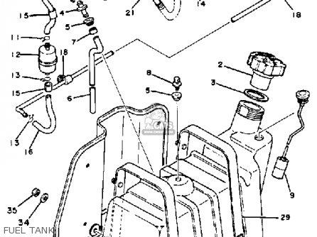 Yamaha G1-am3 1983 parts list partsmanual partsfiche