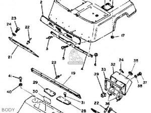 Yamaha G1am4 Golf Car 1984 parts list partsmanual partsfiche