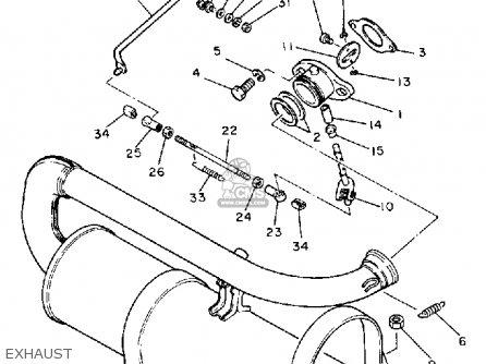 Yamaha G1-am5 1985-1986 parts list partsmanual partsfiche