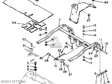 Yamaha G1-E GOLF CAR 1981 parts lists and schematics