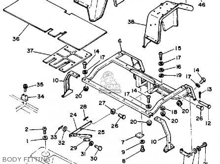 Yamaha G1-em3 1983 parts list partsmanual partsfiche