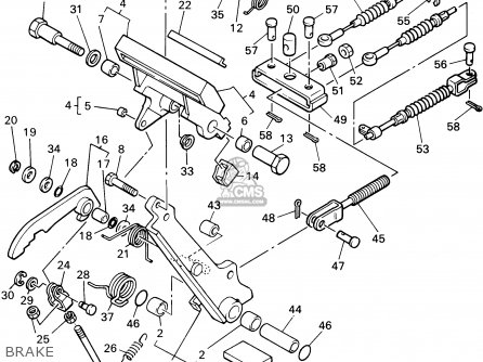 Yamaha G14-am 1995 parts list partsmanual partsfiche