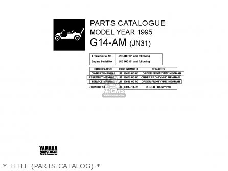 Yamaha G14-AM 1995 parts lists and schematics