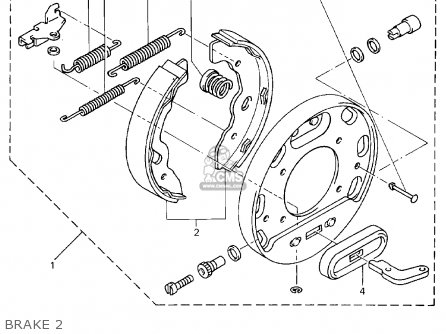 Yamaha G16-ap/ar 1996/1997 parts list partsmanual partsfiche