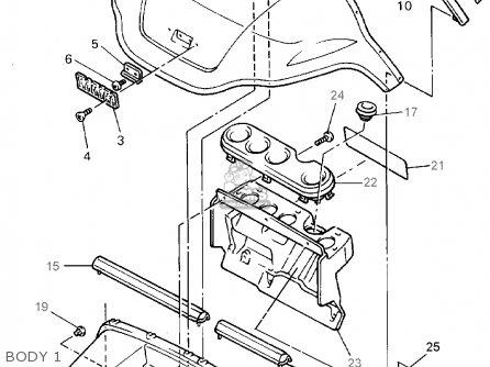 Yamaha G19-ep/er 1996/1997 parts list partsmanual partsfiche
