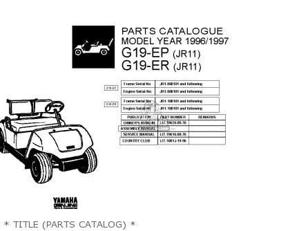Yamaha G19-ep/er 1996/1997 parts list partsmanual partsfiche