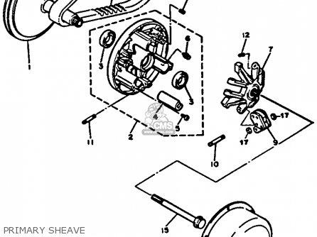 Yamaha G2-a5 1985/1986 parts list partsmanual partsfiche