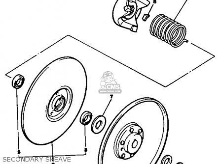 Yamaha G2-a6 1986 parts list partsmanual partsfiche