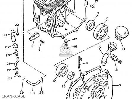 Yamaha G2-ab 1987 parts list partsmanual partsfiche