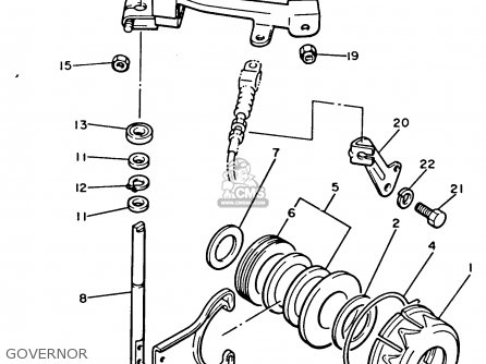 Yamaha G2-ab 1987 parts list partsmanual partsfiche