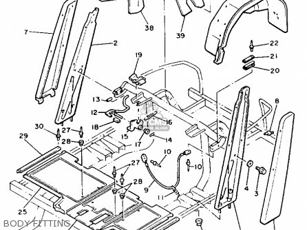 Yamaha G2-ab 1988 parts list partsmanual partsfiche