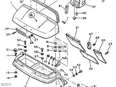 Yamaha G2-ab 1988 parts list partsmanual partsfiche