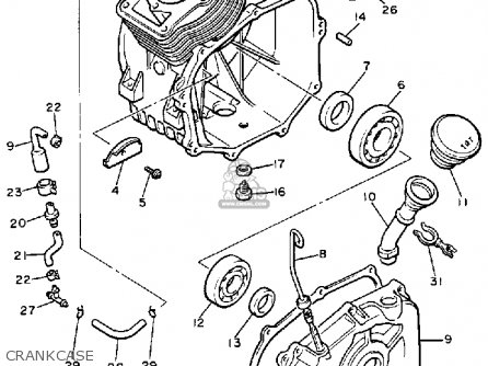Yamaha G2-ad 1989 parts list partsmanual partsfiche