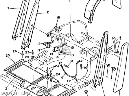 Yamaha G2-EB 1987 parts lists and schematics