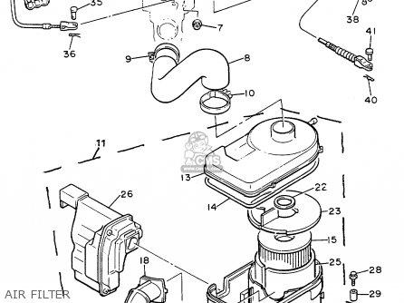 Yamaha G8-ah 1992 parts list partsmanual partsfiche