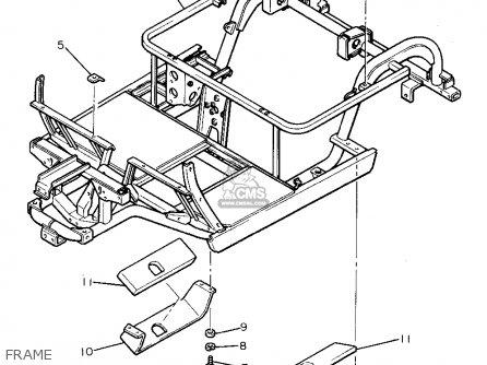 Yamaha G8-aj 1993 parts list partsmanual partsfiche