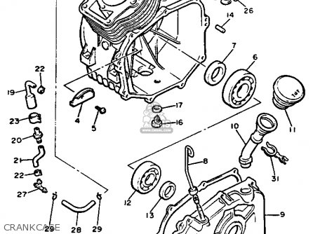 Yamaha G9-ah Golf Buggy 1992 parts list partsmanual partsfiche