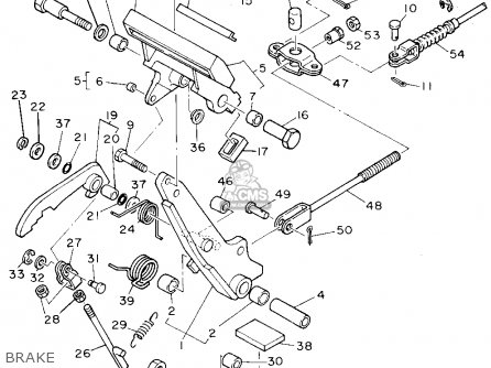 Yamaha G9-aj 1993 parts list partsmanual partsfiche