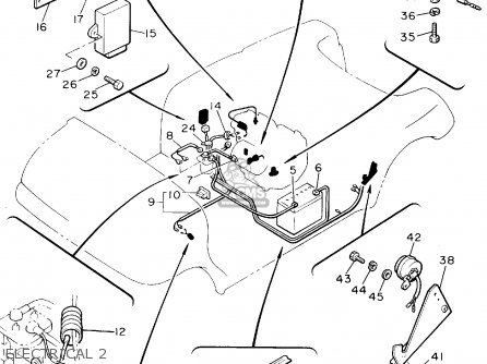 Yamaha G9-AK GOLF CAR 1994 parts lists and schematics