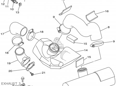 Yamaha Gp1200az 2001 Usa parts list partsmanual partsfiche