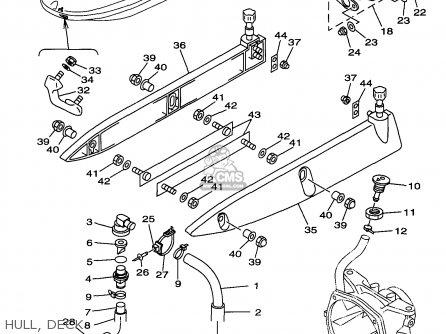 Yamaha Gp1200v 1997 parts list partsmanual partsfiche