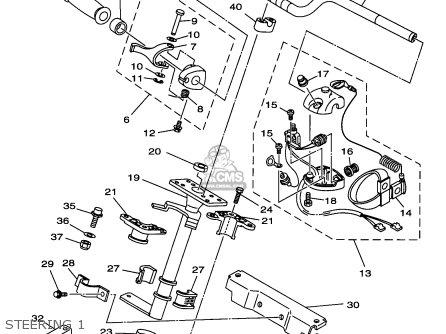 Yamaha Gp1200v 1997 Usa parts list partsmanual partsfiche