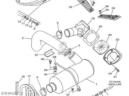 Yamaha GP1200W 1998 USA parts lists and schematics