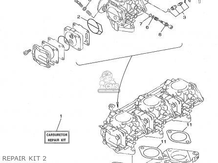 Yamaha Gp1200w 1998 Usa parts list partsmanual partsfiche