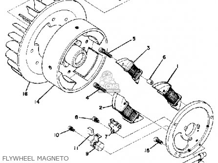 Yamaha GP246F 1974 parts lists and schematics