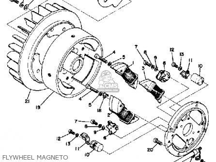 Yamaha Gp338 1973 parts list partsmanual partsfiche
