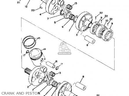 Yamaha Gp396 1971 parts list partsmanual partsfiche