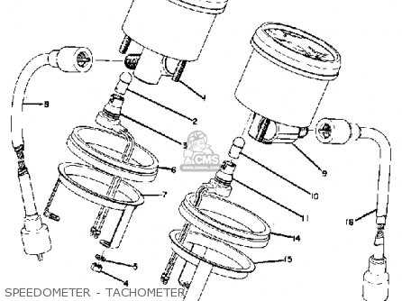 Yamaha Gp433f 1974 parts list partsmanual partsfiche