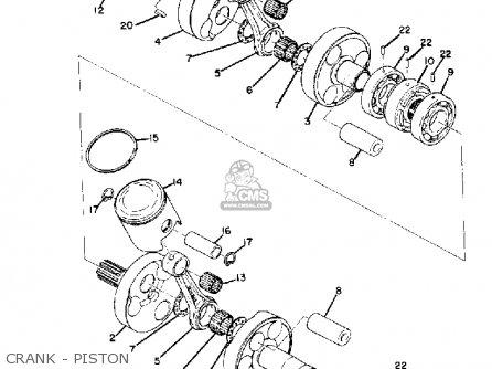 Yamaha Gp433ss/sr Kit 1972 parts list partsmanual partsfiche