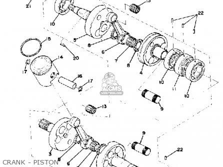 Yamaha Gp440 1976 parts list partsmanual partsfiche