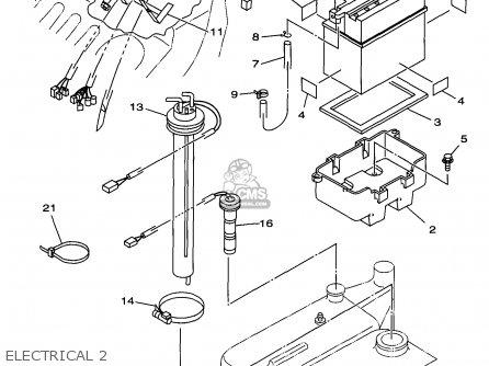 Yamaha Gp760v 1997 Usa parts list partsmanual partsfiche