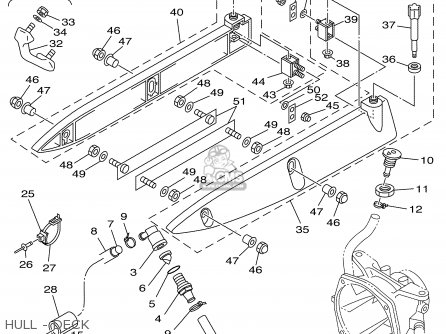 Yamaha GP760X 1999 USA parts lists and schematics